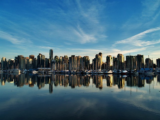 Cityscape Reflections Coal Harbour #1