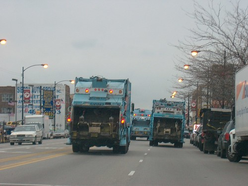 Chicago Department of Streets and Sanitation garbage trucks. Chicago Illinois. November 2006. by Eddie from Chicago
