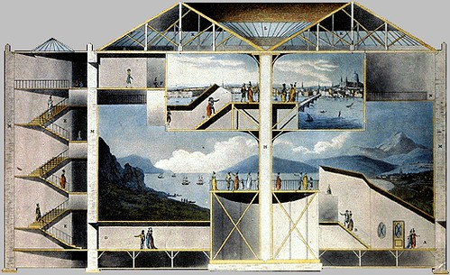 Section of the Rotunda, Leicester Square IN - 'Plans, and Views in Perspective' - Robert Mitchell 1801