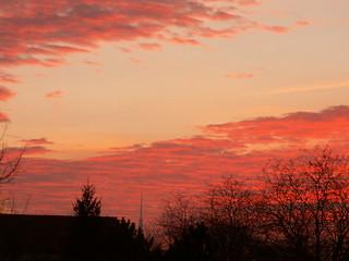 Wolkenhöhe Sonnenaufgang Irrlicht der Zeit Dresden 006