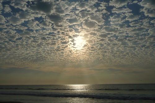 sunset sky beach peru water landscape outdoors atardecer mar agua playa paisaje cielo mancora piura