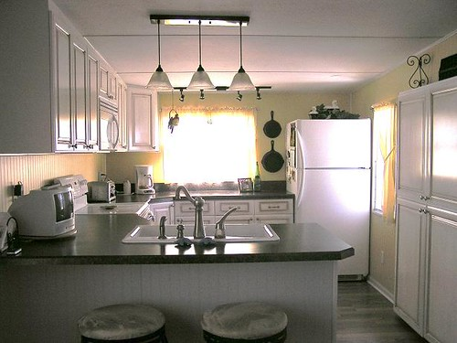 Mobile home makeovers joy studio design gallery best for Mobile home kitchens pictures