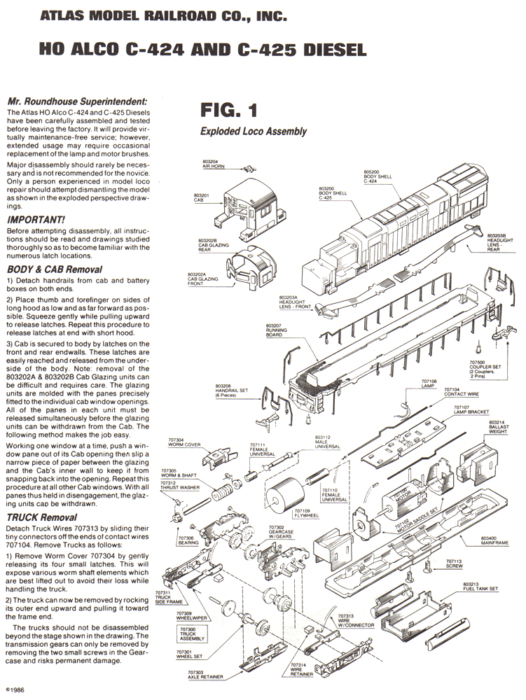 lionel engine parts diagram