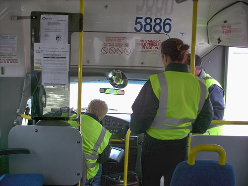 Paratransit bus driver trainees. Glenview Illinois. Febuary 2008. by Eddie from Chicago