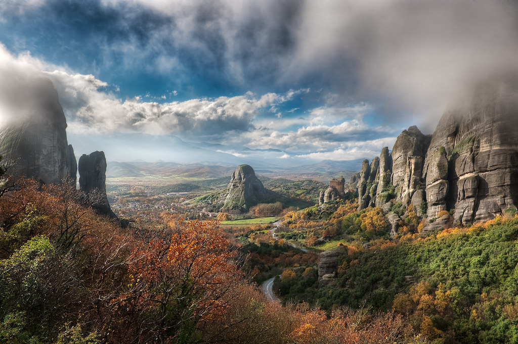The Valley Of Fog - (HDR Meteora, Greece)