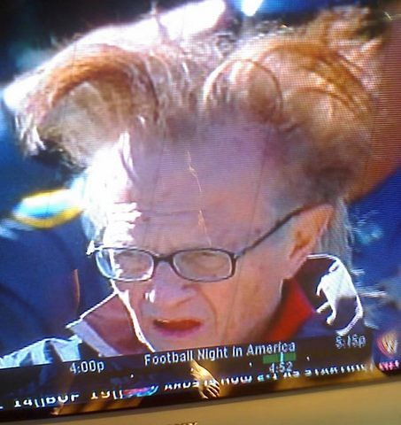Larry King Watching an NFL Game by John McNab