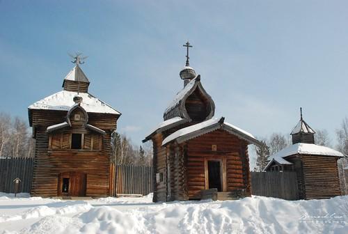 Taltsy, un village de contes et de légendes russes, Baïkal, Sibérie, Russie © Bernard Grua 2007