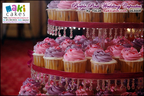 Purple Pink Wedding Cupcakes Maki Cakes