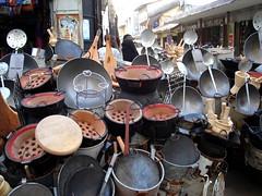 Kitchen utensil cart, Mombasa Old Town market