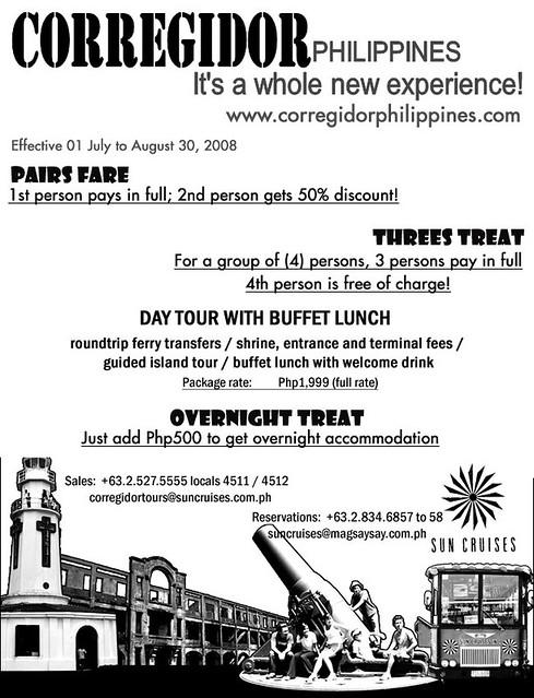 Corregidor Tour Package Ensogo