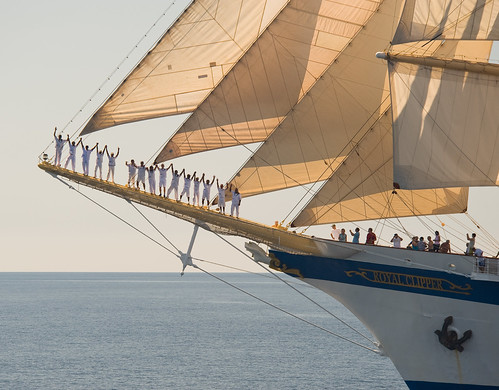 Royal Clipper Crew on Bowsprit (D3_0006106) by marc.hinzpeter