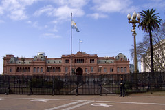 The Presidential Palace, or literally: 'Pink House'.