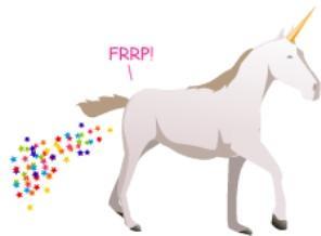 unicorn farting glitter