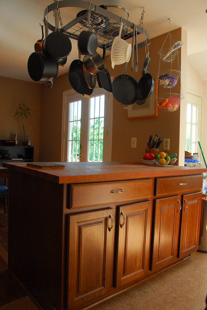 kitchen island with pot rack flickr photo sharing