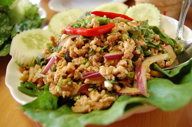 Pork Larp Prepared Laos Style Champa Garden