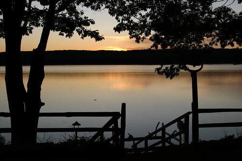 sunset usa lake us midwest michigan gaylord otsego