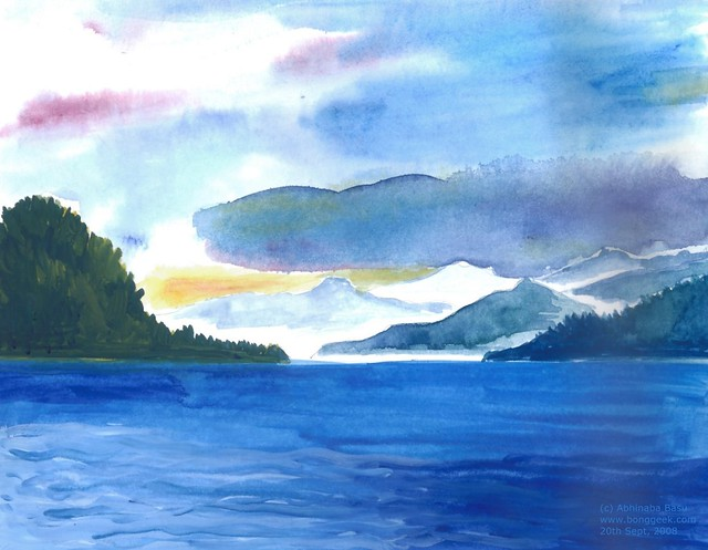 sea watercolor on paper flickr photo sharing