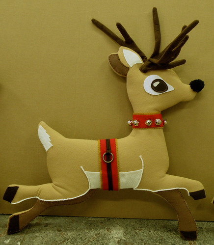 Christmas 2008 Felt Reindeer by Swell Dame