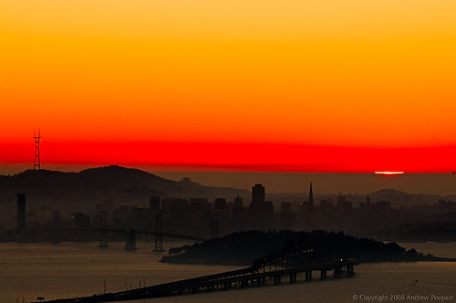 sanfrancisco sunset berkeley baybridge bayarea gps eastbayhills d300 grizzlypeak 70200mmf28gvr solmeta