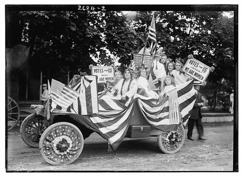 [Suffragists in parade] (LOC)