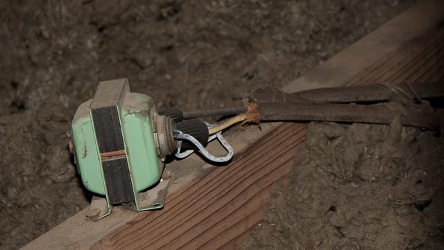 Late Night Attic Crawl 27 Doorbell Transformer Back