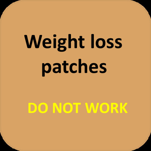 Weight loss patches do not actually work