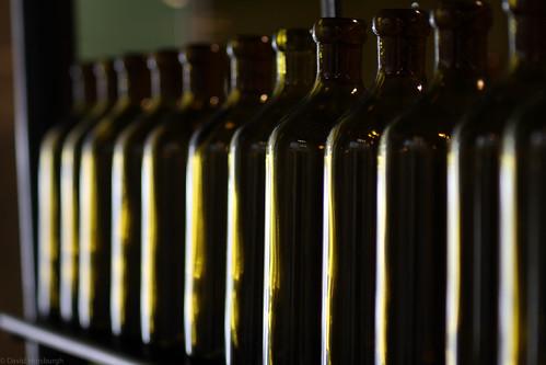 Oil Green Bottles