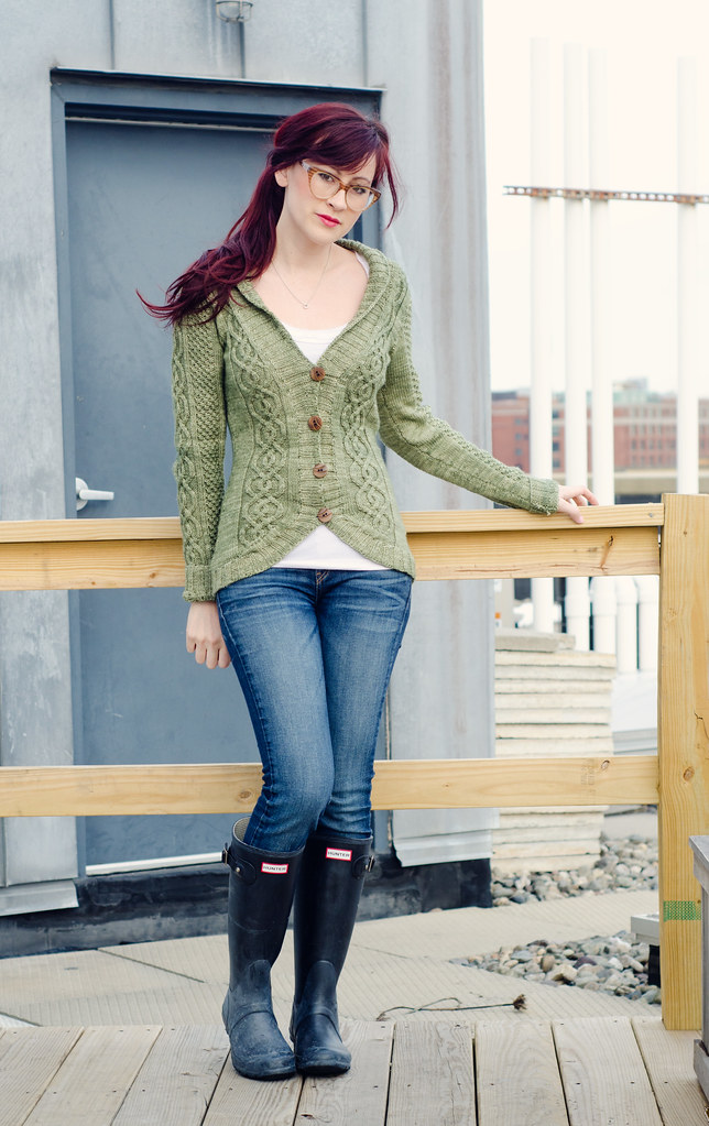 Blackberry cable cardigan