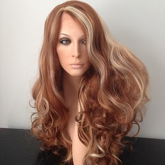 #lacefront #wig in a mix of brown and blonde. #nofilter