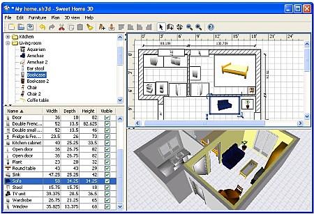 Disegna e arreda gli interni della tua casa in anteprima 3 for Mobilia arredamento 3d