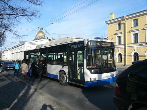 Trolleybus à Saint-Pétersbourg