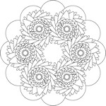 Flower Mandala Coloring