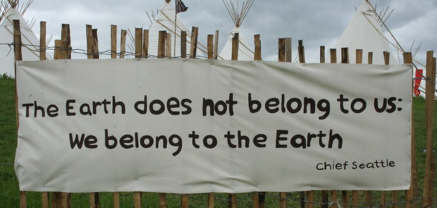 The earth does not belong to us