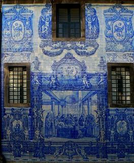 Image of Capela das Almas. windows portugal church window 21 porto blueribbonwinner colorphotoaward ilustrarportugal sérieouro janelasportuguesas peregrino27 portasejanelaspelomundo chapelofsouls