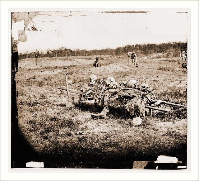 cold harbor virginia vicinity collecting remains of