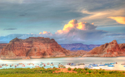 arizona lake southwest landscape paul utah high ut nikon dynamic az canyon glen powell sw range hdr houseboats d80 aplusphoto rutowski
