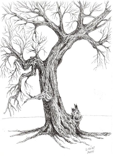 VERY OLD TREE...... PEN&INK