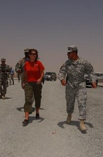Alaska Gov Sarah Palin Visits Troops in Kuwait
