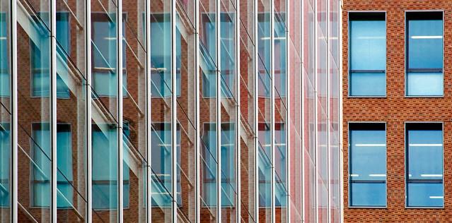 Fachada de edificio en Amsterdam. Holanda.