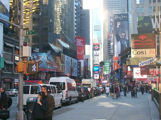 New York, la Broadway nei pressi di Times Square