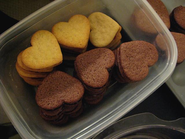 Valentine's Day cookies | Raspberry and cherry jam sandwich ...