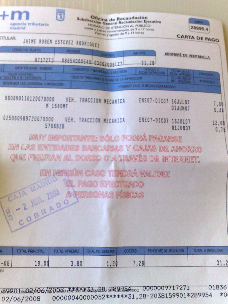Garaje jaime est vez for Oficina recaudacion madrid