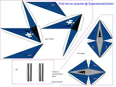 arwing papercraft3
