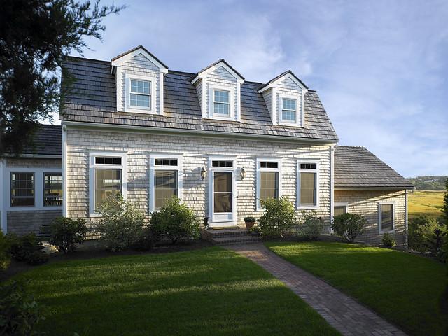 39280 cape cod style lindal home with shingle cedar siding for Shingle style siding