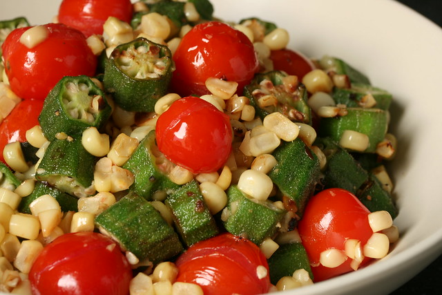 Okra, Corn and Tomato Saute | Flickr - Photo Sharing!