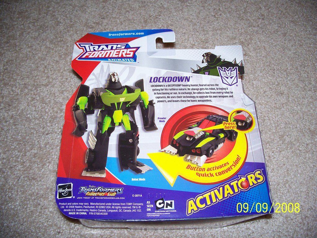 Transformers Animated - Activators Lockdown (back)