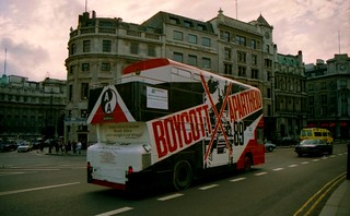 Boycott Apartheid Bus, London, UK, 1989
