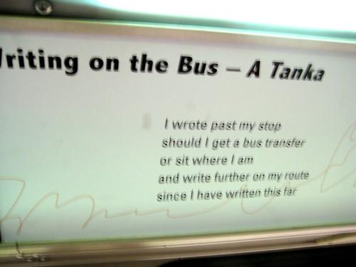 My favorite bus poem