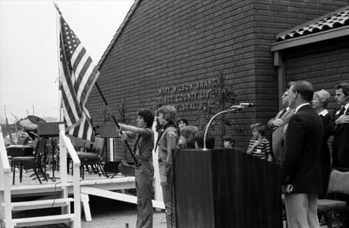 Mary Wilson Branch dedication, Orange County Public Library, Seal Beach, Feb. 1978