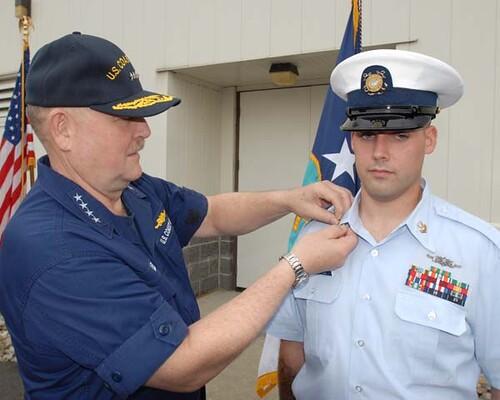 The Commandant Of The U S Coast Guard Advances Po1 Cody
